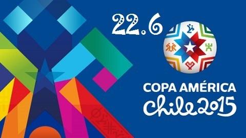 Kết quả và bảng xếp hạng Copa America ngày 22/6