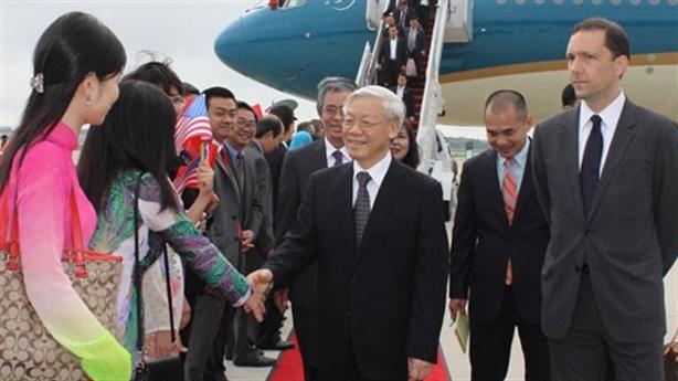 Hoạt động đầu tiên của TBT Nguyễn Phú Trọng trên đất Mỹ