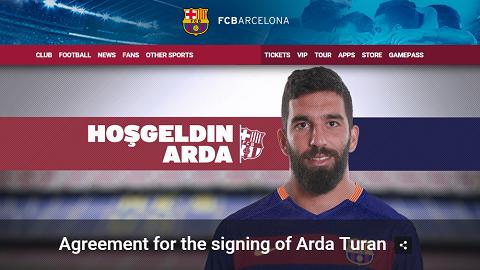 Barcelona chính thức sở hữu Arda Turan với giá khủng