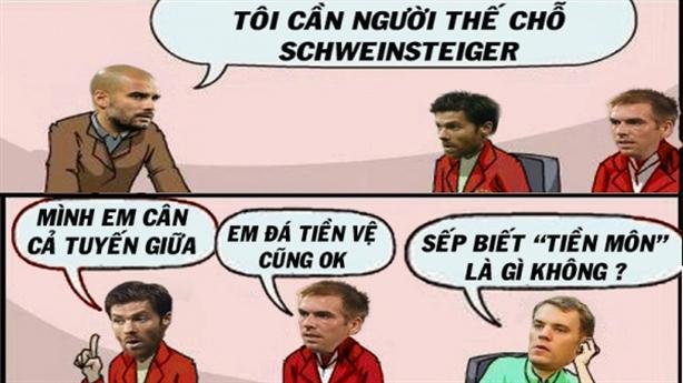 [Ảnh chế] Neuer xung phong đá 'tiền môn' thay Schweinsteiger tại Bayern
