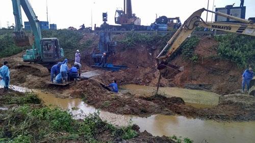 Ống nước Sông Đà lại vỡ sau khởi tố 7 cán bộ