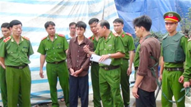 Bị can bình tĩnh tái hiện vụ thảm sát ở Bình Phước
