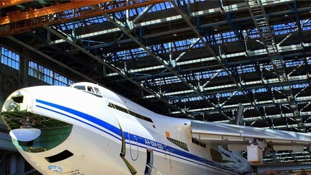 Lộ bí mật thiết bị trong mũi quái vật An-124