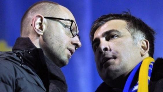 """Saakashvili """"nhắc"""" Yatsenyuk: Kinh tế Ukraine đã tụt xuống mức của Gabon"""
