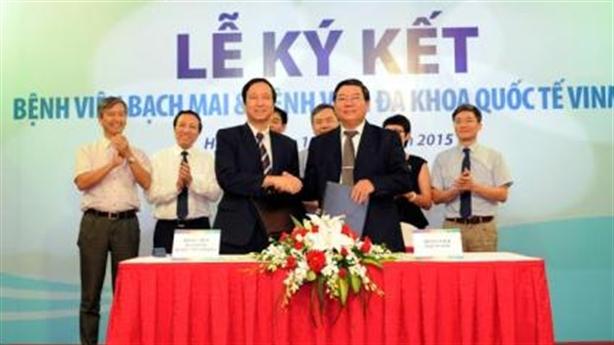 Bệnh viện Bạch Mai và Bệnh viện Vinmec ký hợp tác