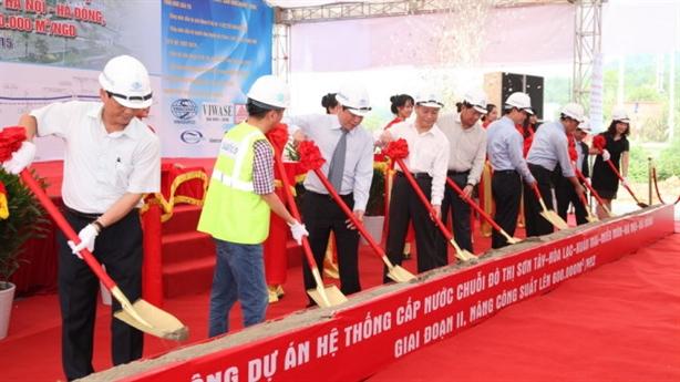 Khởi công xây dựng đường ống nước Sông Đà–Giai đoạn II