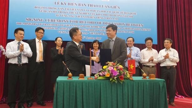 Hàn Quốc hỗ trợ xây dựng đường sắt Vũng Áng-Viêng Chăn