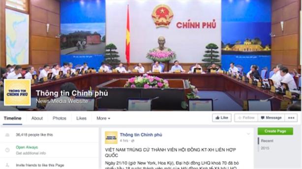 Hàng loạt facebook giả mạo trang 'Thông tin chính phủ'