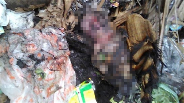 Hài nhi tử vong: Mẹ đem ra bãi rác, không định đốt