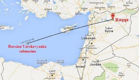 Chi tiết vụ phóng tên lửa Kalibr từ tàu Kilo vào Syria