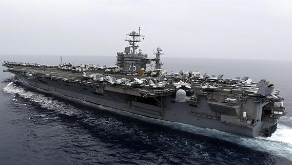 Thót tim: Tên lửa Iran bắn suýt trúng tàu sân bay Mỹ