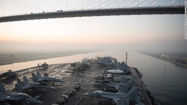 Iran ngắm bắn tàu sân bay Mỹ bằng tên lửa nào?