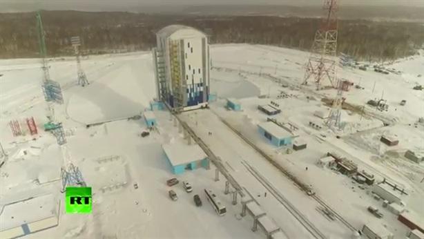 Lộ clip sân bay vũ trụ mới của Nga