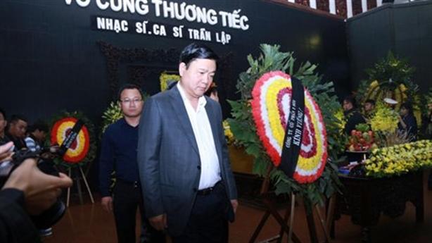 Bí thư Đinh La Thăng đến viếng nghệ sĩ Trần Lập