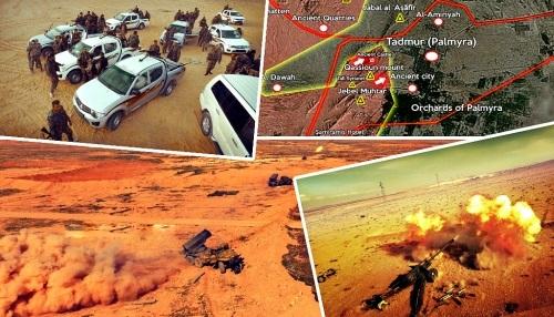 Clip nóng: Quân đội Syria tiến vào trung tâm Palmyra