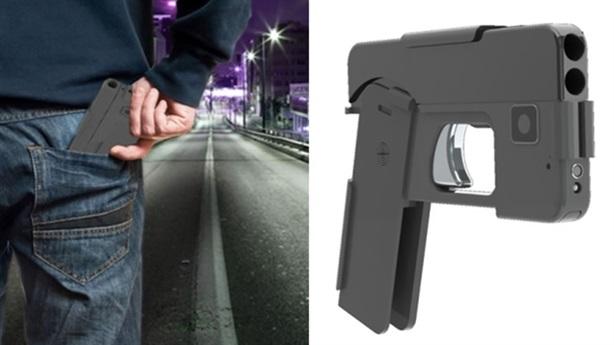 Độc đáo súng lục ngụy trang thành smartphone