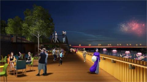 Lát gỗ lim làm đường đi bộ: Thương mại hóa sông Hương?