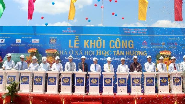 Khởi công dự án nhà ở xã hội HQC Tân Hương