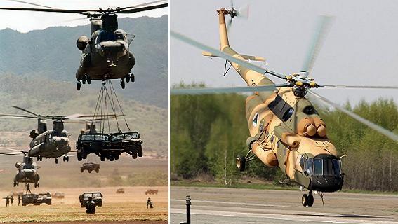 Thái Lan thay trực thăng CH-47 Chinook Mỹ bằng Mi-17 Nga