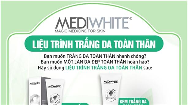 Liệu trình giúp trắng da toàn thân hơn 80% sau 3 tuần.