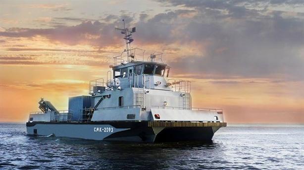 Tàu cứu hộ hai thân cực độc của Nga