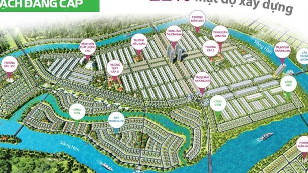 (Infographic)Nam Hòa Xuân: KĐT sinh thái quốc tế hàng đầu Đà Nẵng