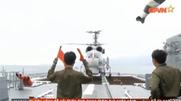 Kỹ thuật hạ cánh trên Gepard của Ka-28 Việt Nam
