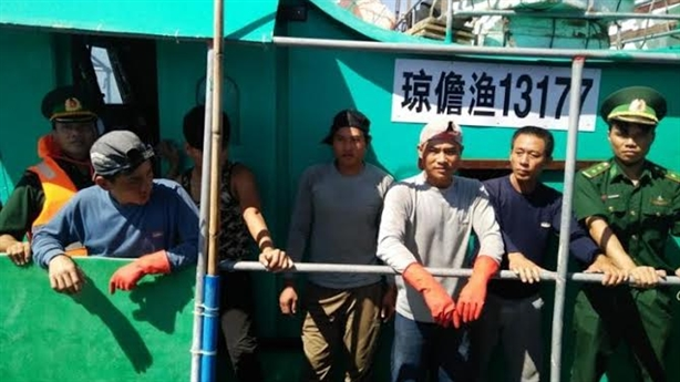 Tàu cá Trung Quốc xâm phạm chủ quyền: Xử lý nhân đạo