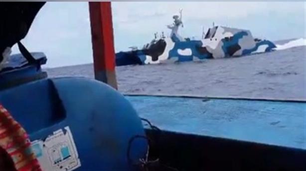 Clip tàu Trung Quốc đuổi tàu ngư dân Việt Nam