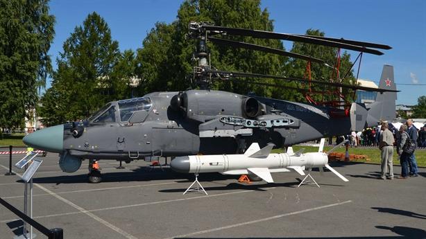 Trực thăng Ka-52K trang bị radar AESA và tên lửa Kh-31