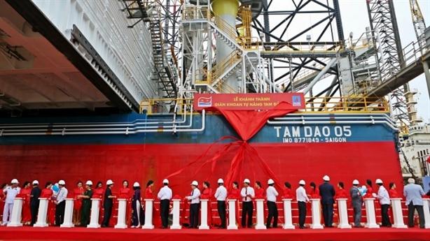 Việt Nam khánh thành giàn khoan tự nâng lớn nhất