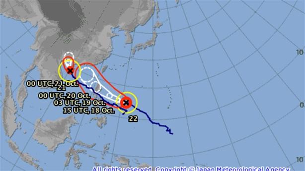 Tin mới nhất bão số 7: Siêu bão Haima cùng hướng