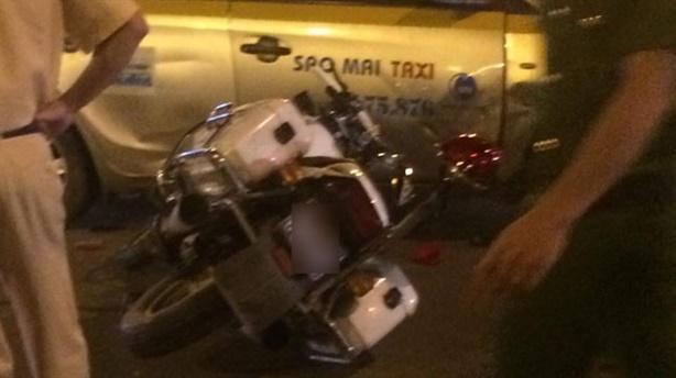 Cảnh sát bị ngã khi đuổi xe vi phạm: Xây xước nhẹ