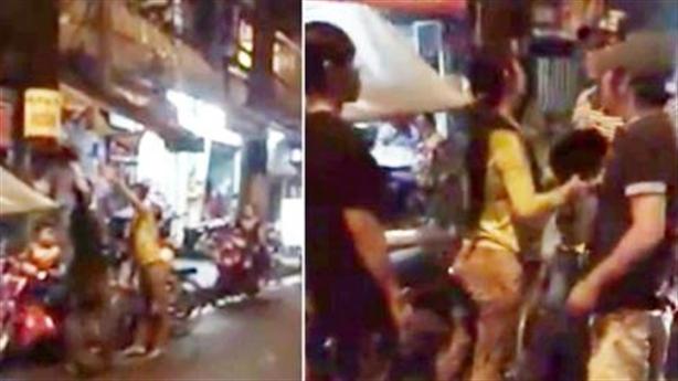 Đánh chồng vì bạo hành giữa đường: Vợ xót chồng?