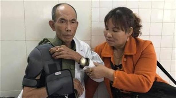 Thương binh bị thanh niên đánh dã man: La hét về đêm
