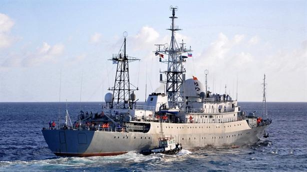 Mỹ phát hiện tàu Nga áp sát bằng mắt thường