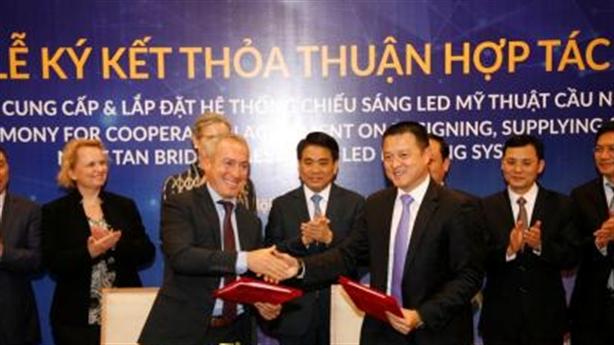 Sun Group tài trợ một số công trình chiếu sáng Hà Nội