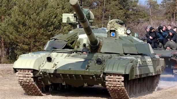 Tăng mạnh ngang T-90 bị bắt sống tại Đông Ukraine