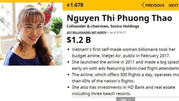Việt Nam có hai tỷ phú USD: Những thông tin đáng đọc