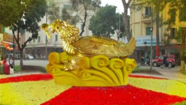 Bắt đền 500 cây bị chặt, dựng tượng rùa ở Hồ Gươm