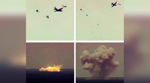 Hình ảnh khoảnh khắc tàn phá khủng khiếp của Bom mẹ
