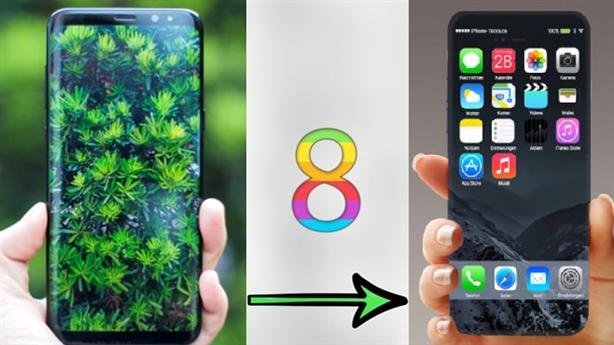 iPhone 8 hụt hẫng trước Samsung S8