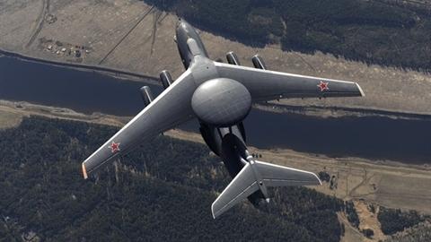 A-50U lượn trên bầu trời Syria sau đòn đánh của F-35I