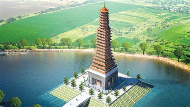 Tháp Thái Bình 300 tỷ trông... lạ: Kiến trúc sư giấu mặt?