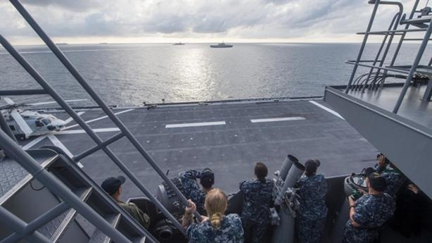 Diễn tập trên Biển Đông, Mỹ khẳng định không nhường Trung Quốc
