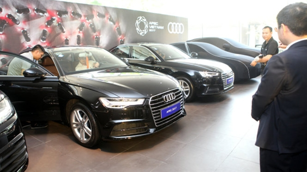 Trăm xe Audi phục vụ APEC: Hãng xe tài trợ
