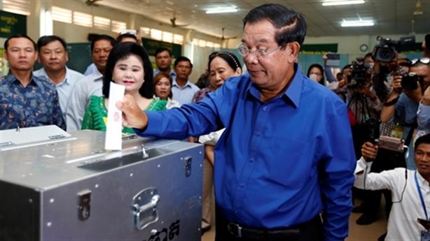 Kết quả nóng bầu cử ở Campuchia