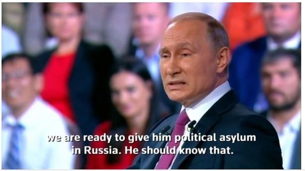 Ông Putin rộng lòng: Sếp FBI cần tị nạn hãy sang Nga