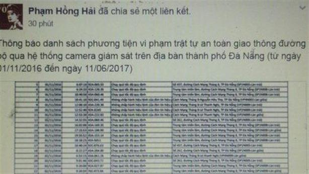Đà Nẵng nêu tên xe vi phạm: Dân tán thưởng...