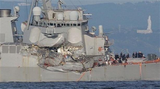 Tàu Aegis bị đâm bẹp có hệ thống chiến đấu mẫu mực